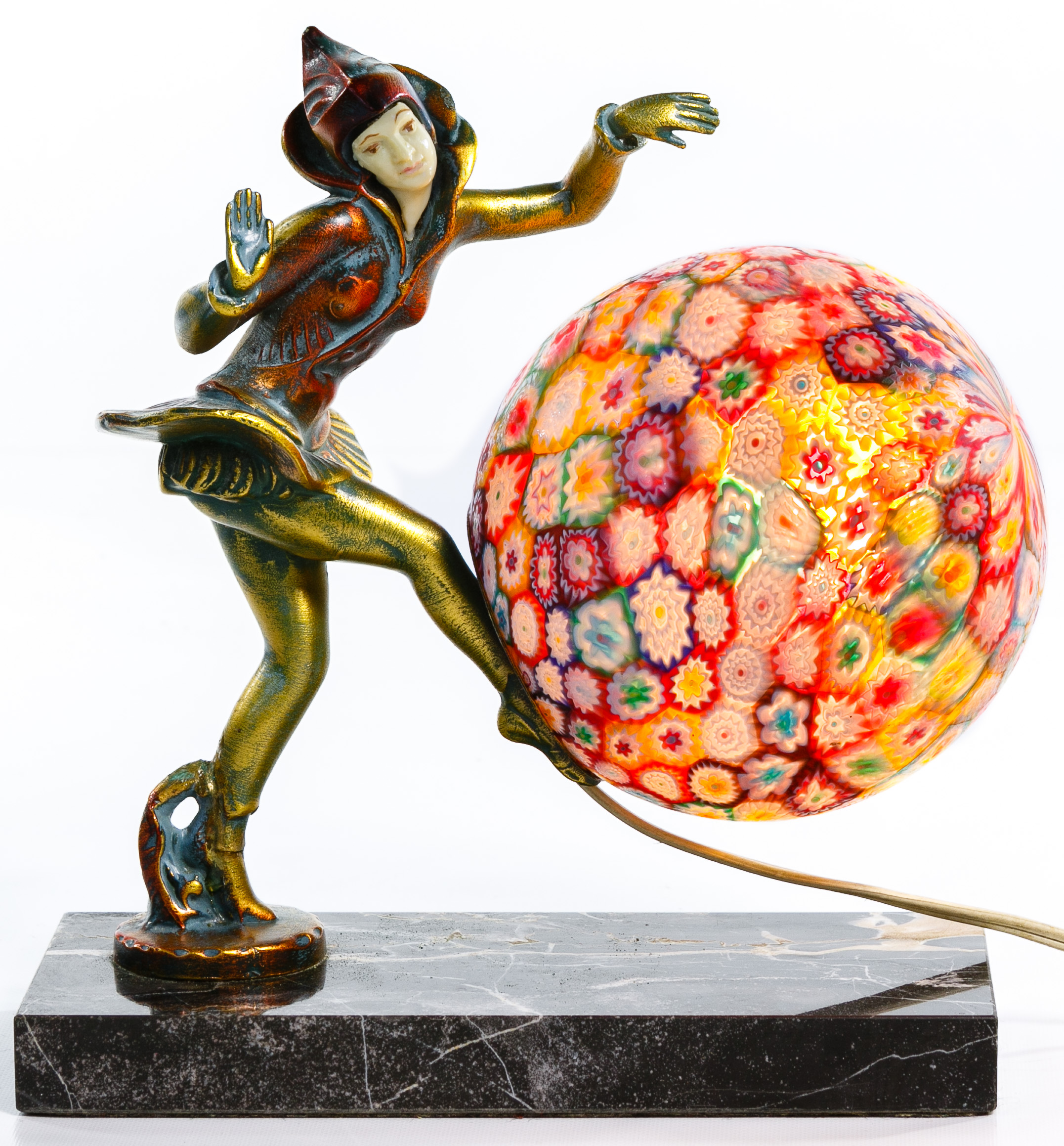 Gerdago For J B Hirsch Pixie Lamp With Millefiori Shade Sep 15 2019 Leonard Auction Inc In Il