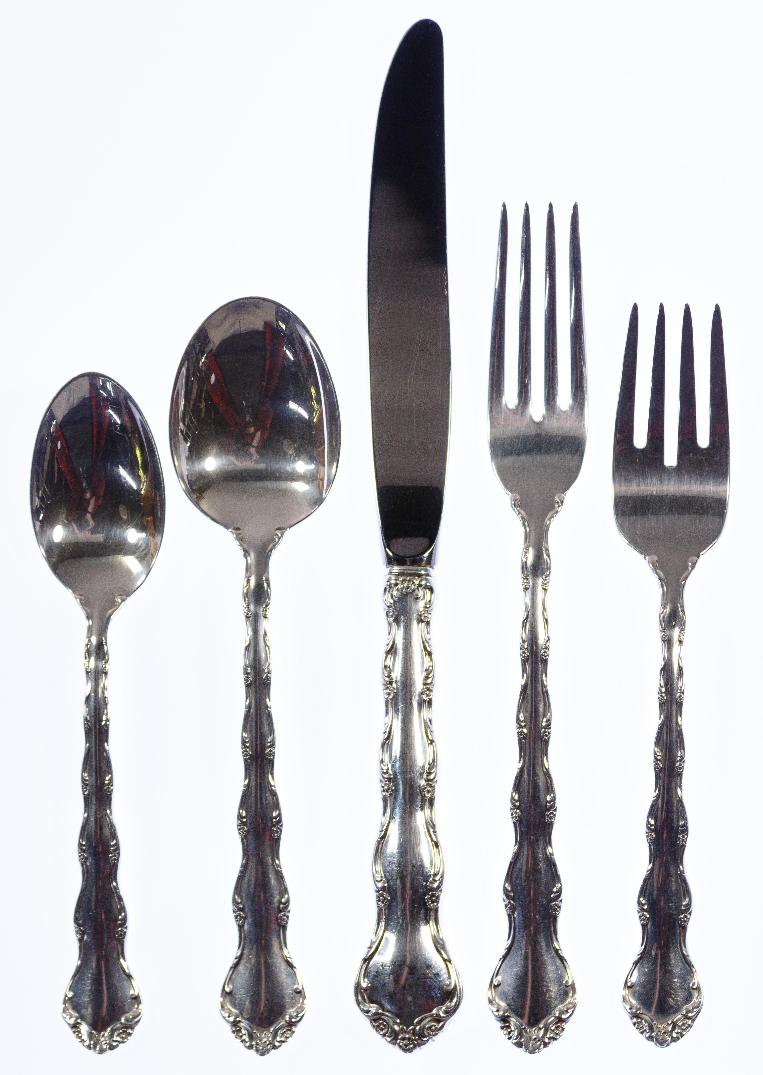 Tara Reed and /& Barton Sterling Silver salad dessert fork 12