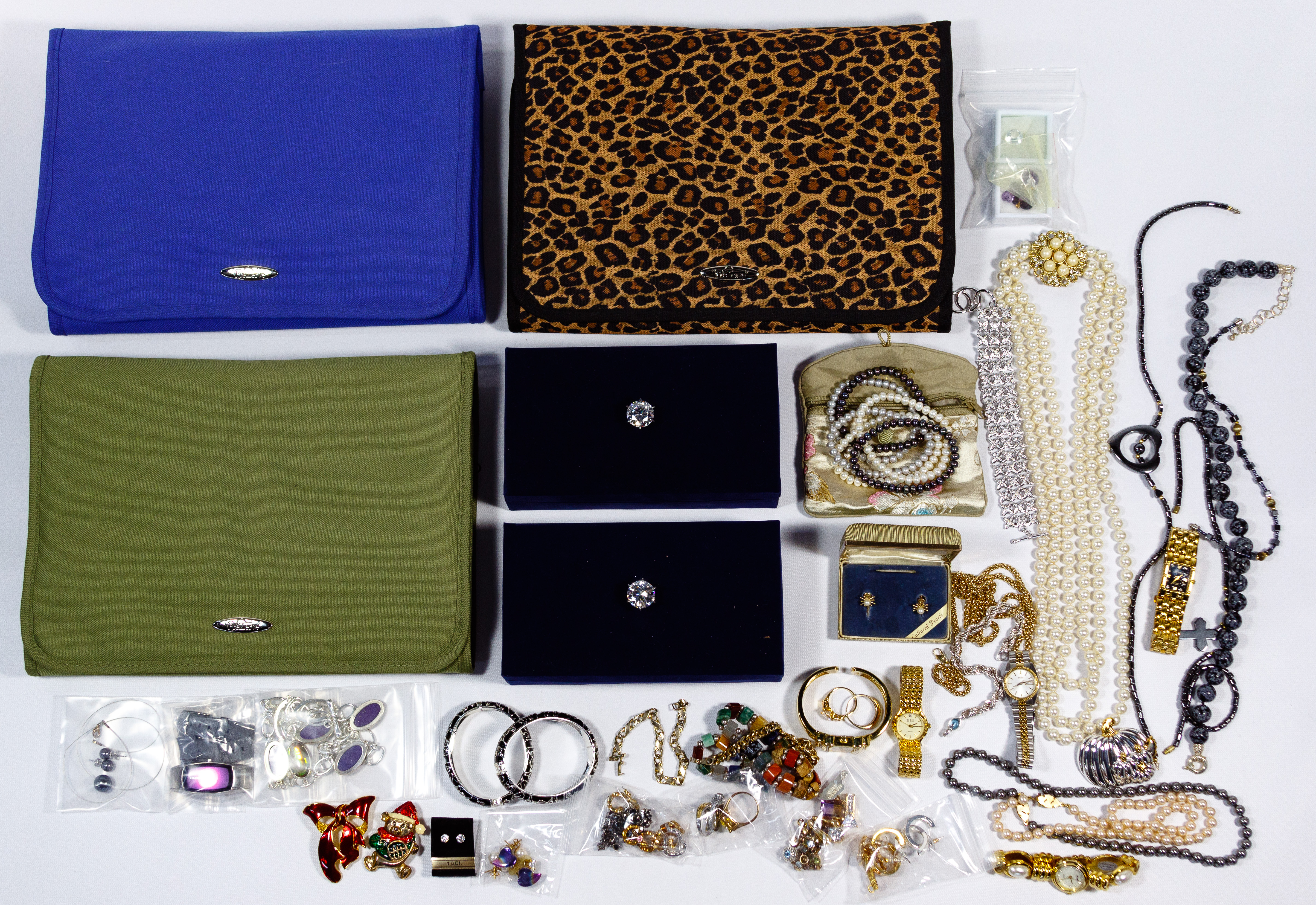 Costume Jewelry And Storage Bag Assortment Sold At Auction On 18th October Bidsquare