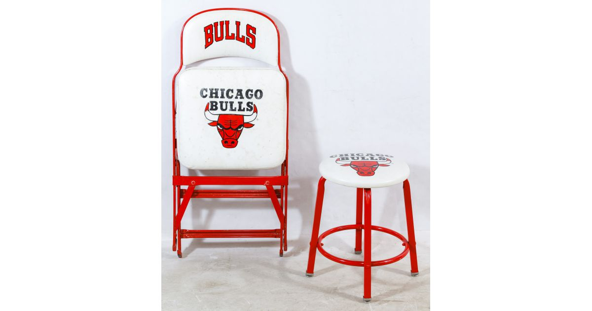 Lot 545 Chicago Bulls Courtside Folding Chair Leonard