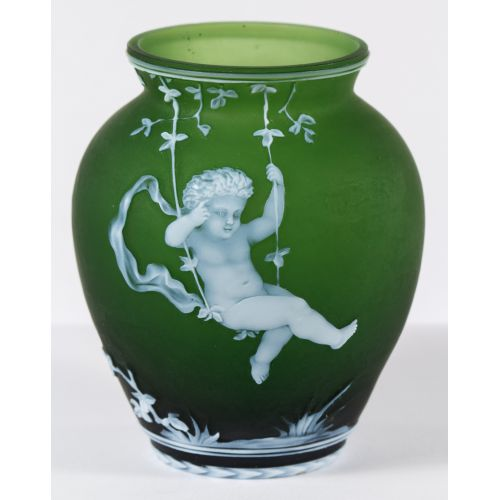 Thomas Webb & Sons Cameo Glass Vase