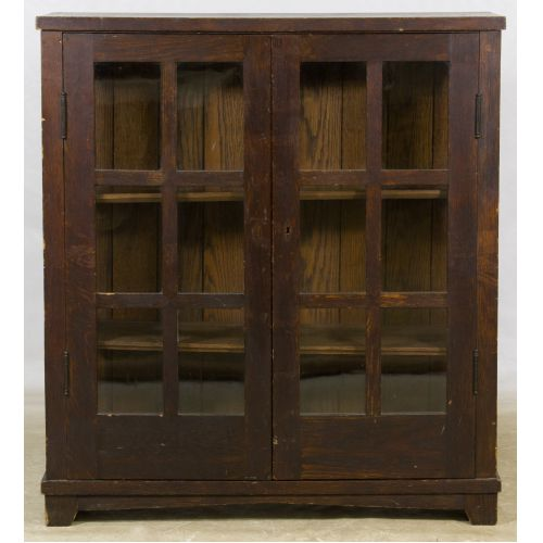 Arts and Crafts Style Oak Book Case