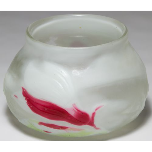 "Galle ""Magnolia"" Cameo Glass Bulbous Vase"