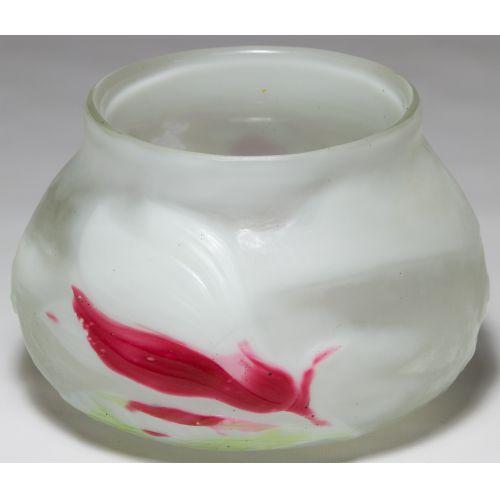 "Galle ""Magnolia"" Cameo Glass Bulbous Vase"