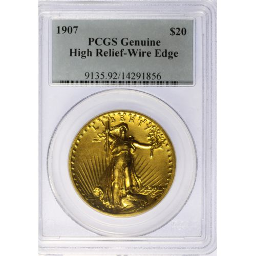 1907 St. Gaudens $20 Gold High Relief
