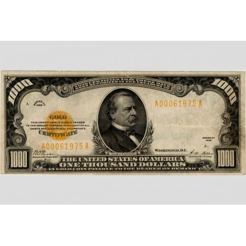 1928 $1000 Gold Certificate