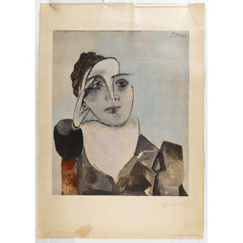 """Pablo Picasso (Spanish, 1881-1973) """"Portrait de Dora Maar"""" Lithograph"""